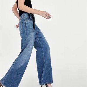 NWT Zara The Vintage Slim High Waist Flare Jeans